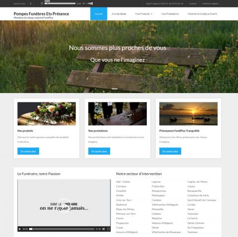 creation site internet pompes funebres