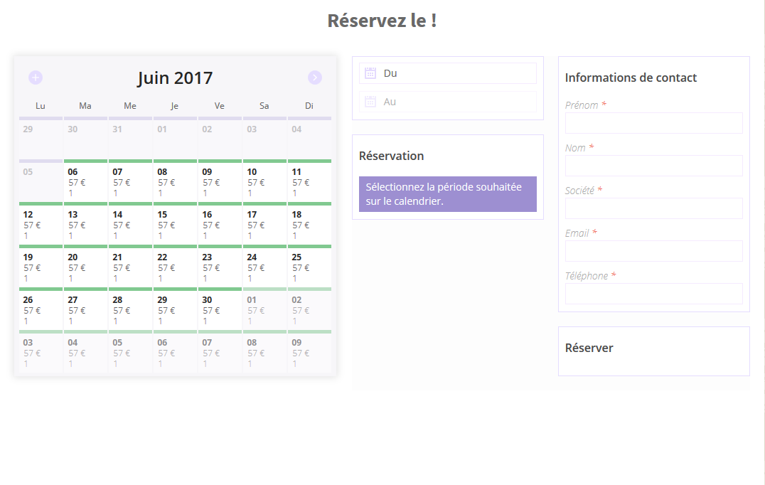creer site reservation booking