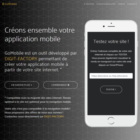 creer application mobile